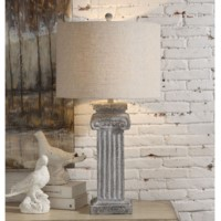 Greek Column Table Lamp