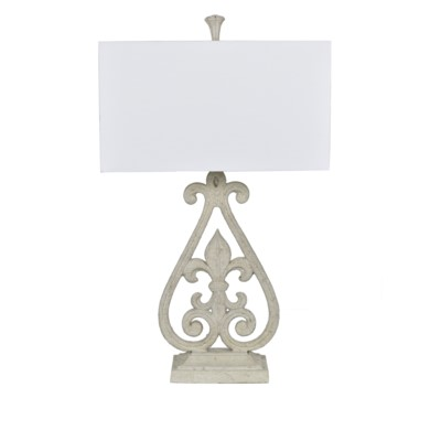 Crestview collection fleur de lis table lamp aloadofball Choice Image