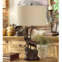 Bull Head Table Lamp