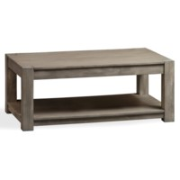 Bengal Manor Mango Wood Block Leg Rectangle Cocktail Table