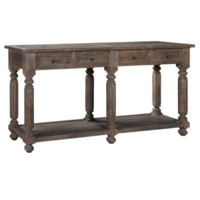 Bengal Manor Acacia Wood Turned Leg 4 Drawer Console