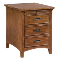 Hawthorne Estate 3 Drawer 1 Pull Shelf Chairside Accent Table
