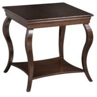 Hawthorne Estate Cabriole Leg Square Wood Table Heritage Finish