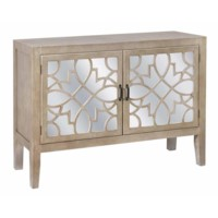 Veranda 2 Door Sandstone and Mirror Cabinet