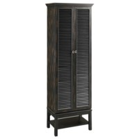 Wilmington Louvered Door Tall Black Cabinet