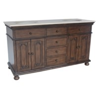 "Brighton 4 Door / 4 Drawer 60"" Double Vanity Sink"