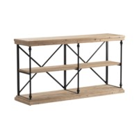 La Salle Metal and Wood Console