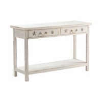 Seaside White Coastal Console Table
