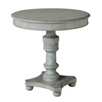 Chadwick Antiqued Grey Turned Post Accent Table