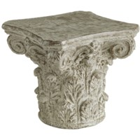 Athena Cast Greek Capital Accent Table