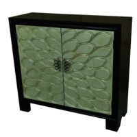 Empire Black and Champagne 2 Door Cabinet