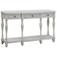 Caroline 3 Drawer Antique White Console
