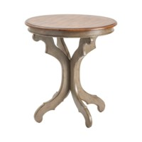 Gresham Textured Grey and Oak Veneer Accent Table