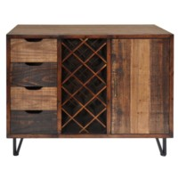Sturtevant 4 Drawer / 1 Door Clean Rustic Wine Cabinet