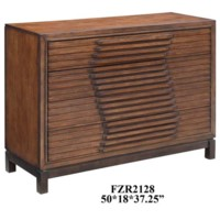 Bradley 4 Drawer Raised Panel Chest in Chestnut Finish