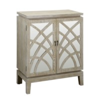 Biscayne Light Oak 2 Mirrored Design Door Cabinet