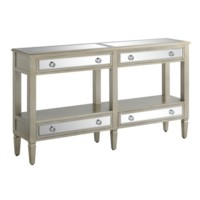 Sterling 4 Drawer Silver and Mirror Console