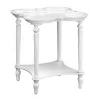 Catherine Antique White Shaped Top Accent Table