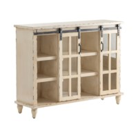 Magnolia Antique White Sliding 2 Door Console