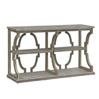 Stockton Open Chestnut Wash 3 Tier Console