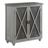 Richland Grey Two Tone 2 Door Cabinet