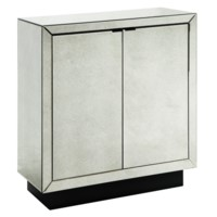 Kacey 2 Door Antiue Mirror Cabinet