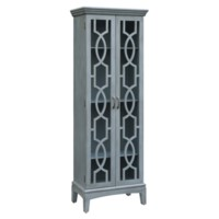 Sydney 2 Door Tall Blueish Grey Cabinet