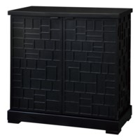 Block Party 2 Door Black Cabinet