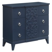 Portsmouth 3 Drawer Fretwork Chest in Indigo Finish