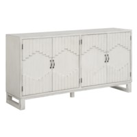 Hillsborough 4 Door Raised Panel Brushed White Sideboard