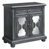 Twilight Hourglass Mirror 2 Door Cabinet