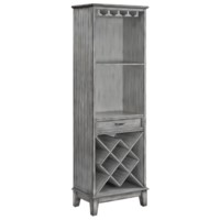 Napa Tall 1 Door Parchment Wine Cabinet