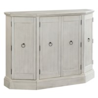 Coventry White 4 Door Credenza