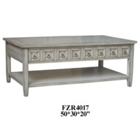 Bledsoe 2 Drawer White Ash Rectangle Cocktail Table