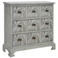 Wavy 3 Drawer Stone Grey Chest