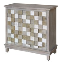 Conrad 2 Door Multi-Colored Raised Block Grey Cabinet