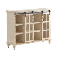 Peyton Antique Grey Sliding 2 Door Console