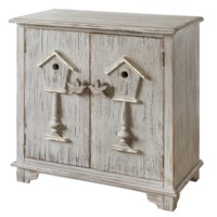 Birdhouse 2 Door Distressed Grey Cabinet