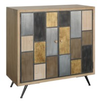 Aurora Multi-Colored 2 Door Cabinet