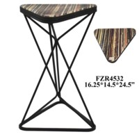 Poplar Records Triangle Accent Table