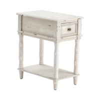 Weston Chalk Grey 1 Drawer Chairside