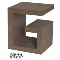 Super G Natural Oak Veneer Accent Table