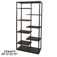 Hendrick Metal and Wood Offset Etagere