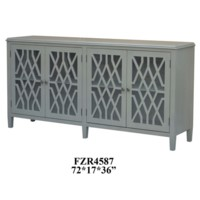 Stratford 4 Door Pale Grey Fretwork Sideboard