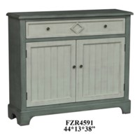 Bedford 1 Drawer 2 Door Mint Green and White Cabinet