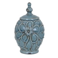 Medium Flower Lidded Vase
