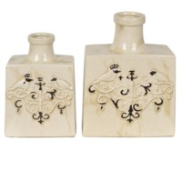 Bird Crown Rectangle Vases