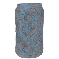 Medium Damask Leaf Vase