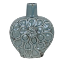 Medium Soft Blue Flower Vase