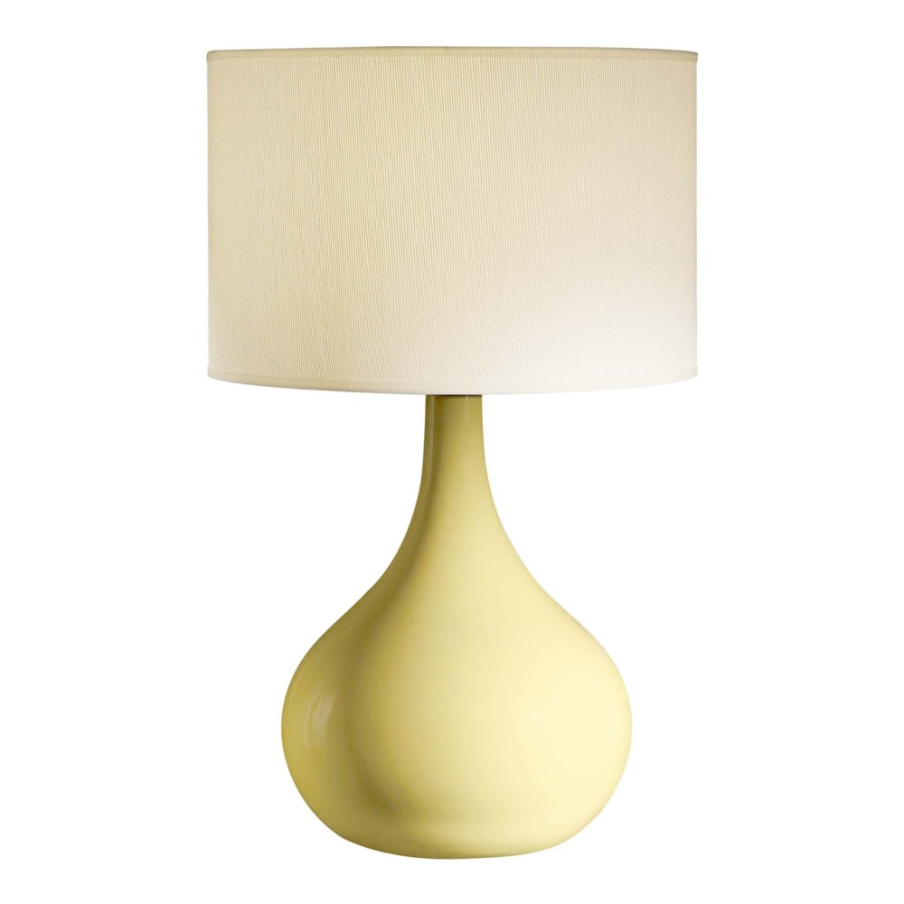 Tall 34 Quot Gloss Saffron Yellow Ceramic Table Lamp Rich